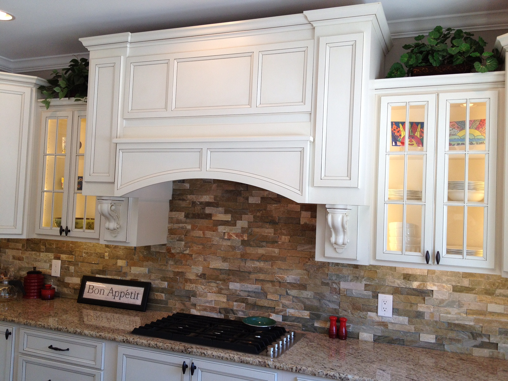 Hidden Range Hood with Cabinet Blanks