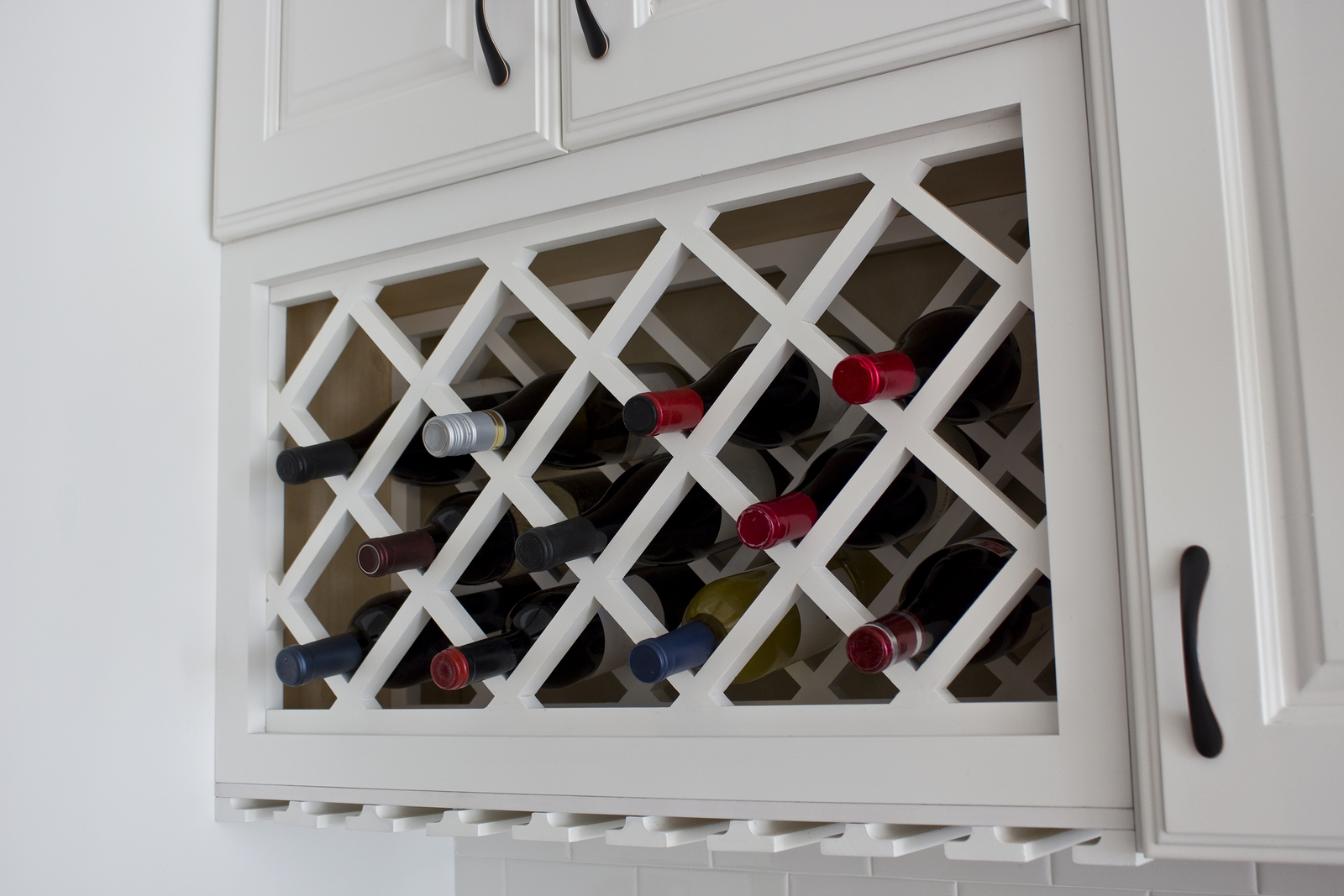 Custom wine rack cabinet