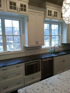 White Kitchen Bay Windows