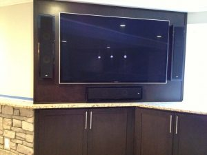 TV in kitchen