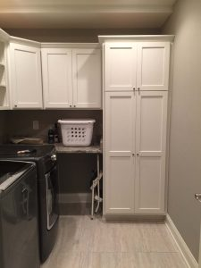 Laundry room with custom cabinets