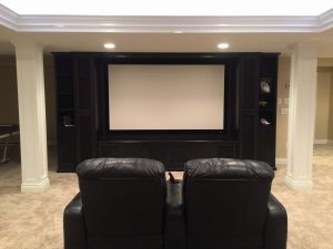 Custom Cabinetry used as Entertainment Center