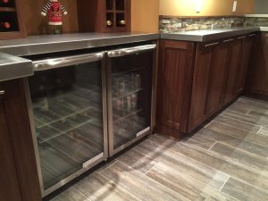 Custom Cabinetry with Wine storage